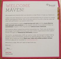 Welcome Maven! Information Card