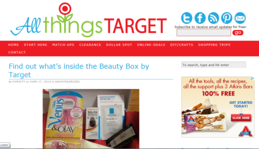 All Things Target shout out
