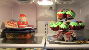 Santa Cake and Christmas Cupcake Tree