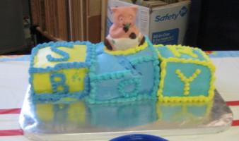 Cake Redone for 1st Shower