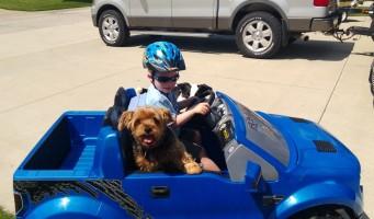 Derby getting a ride