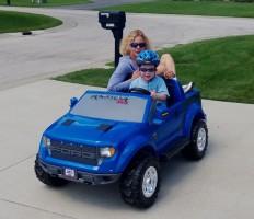 Grandma getting a ride