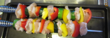 Chicken Shish Kabobs with Fresh Vegetables
