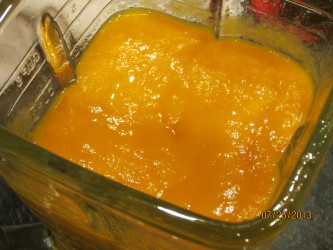Pureed apricots