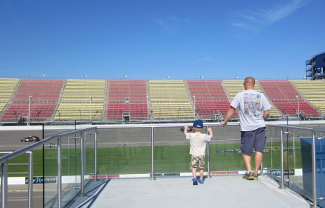 Watching the race at MIS!