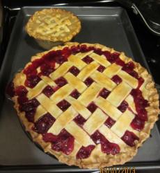 Small Yellow Raspberry Pie & Large Red Raspberry Pie