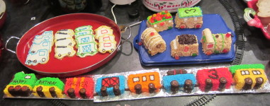 Last year's train cakes!