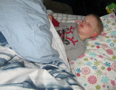 The results of S getting up at 6am.  Nap desperately needed!