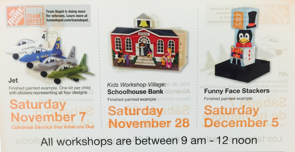 Upcoming Home Depot Builds