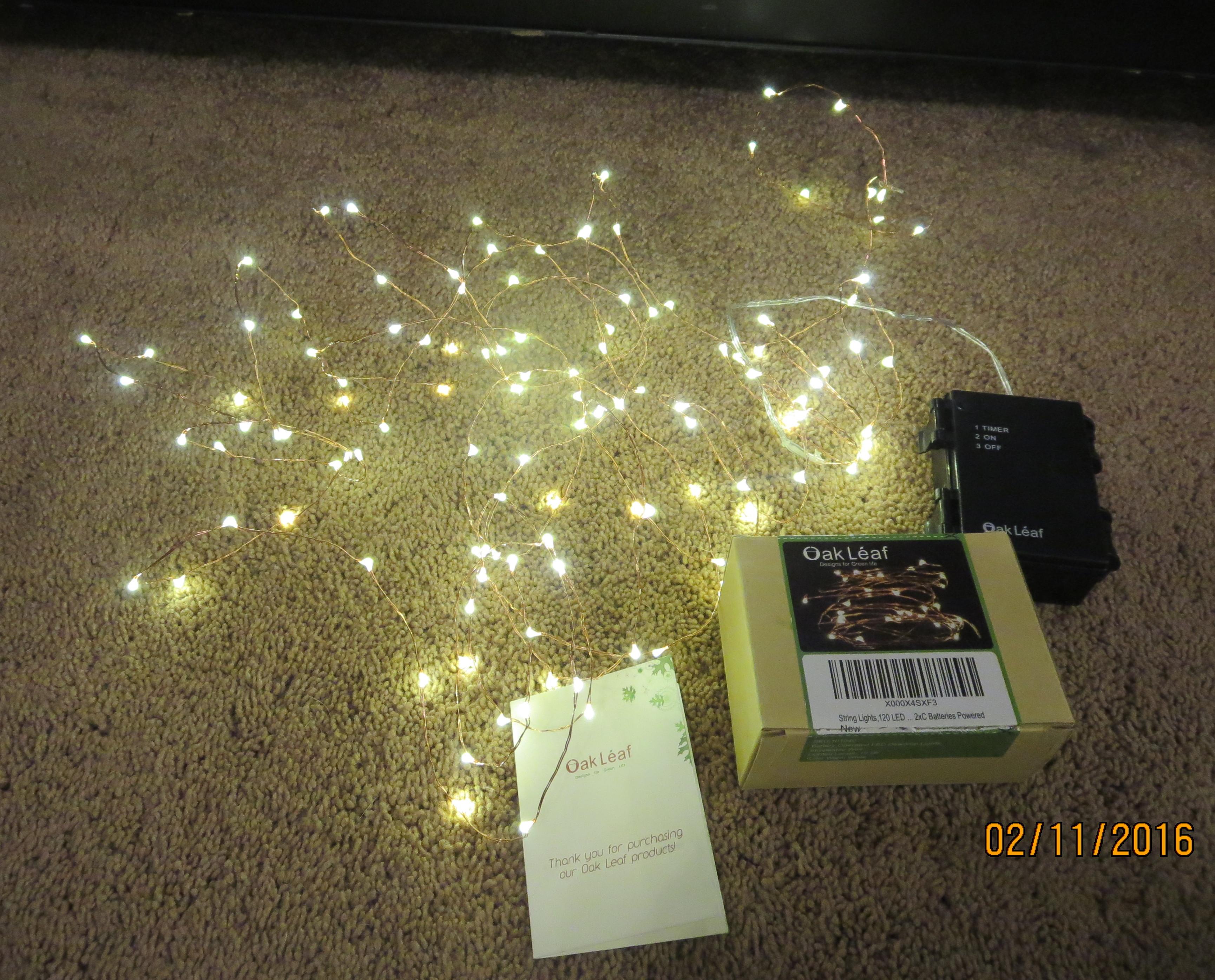 Oak Leaf 120 LED Starry String Lights Review