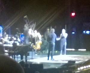 Josh Grobin and Sarah McLachlan doing a duet.