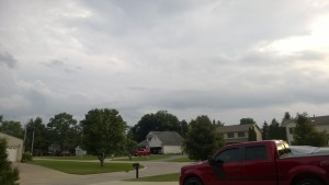 This is when the tornado sirens went off.