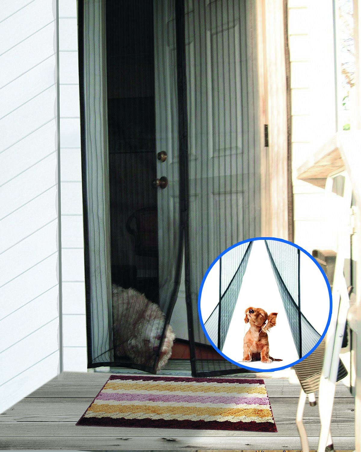 Onme magnetic screen door review the onme magnetic screen door has powerful magnetic gap free seal that automatically snaps shut this screen door provides all the benefits of a traditional vtopaller Images