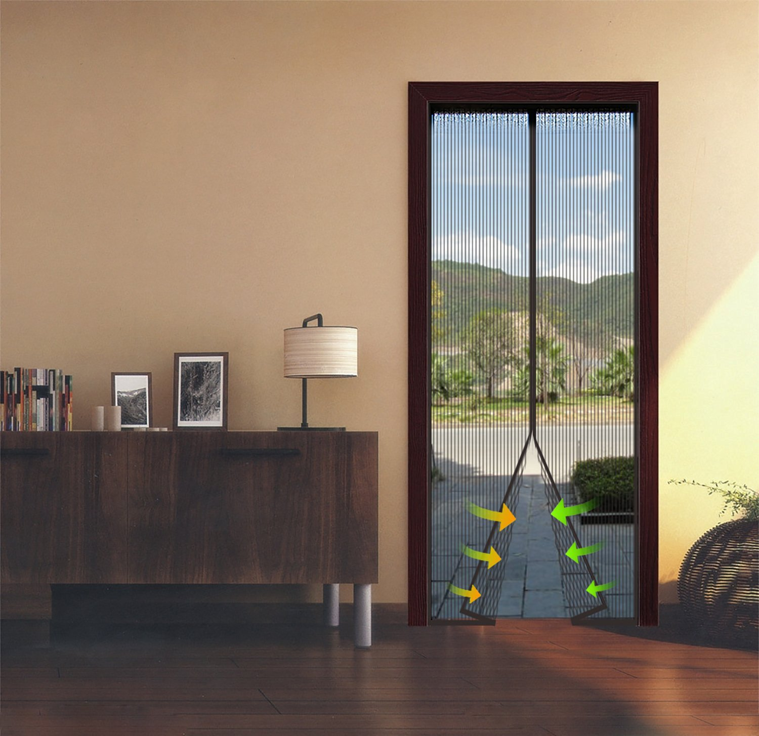 Onme magnetic screen door review the instant bug mesh has a full length velcro strip across the top and down each side there are also additional push pins for a strong installation to vtopaller Images