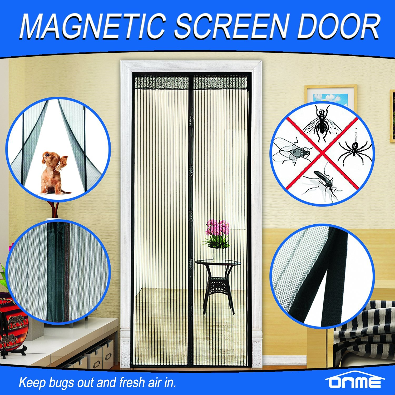 Onme magnetic screen door review i have seen these magnetic screen doors and always wanted one we dont really have any door this would work on other than our front door vtopaller Images